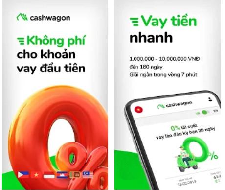 ứng dụng vay online siêu tốc cashwagon