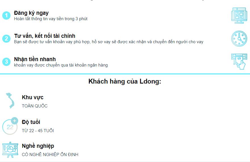 Ldong vay tiền online