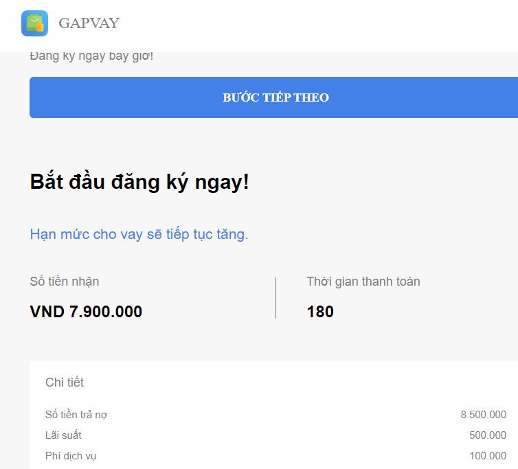 Vay tiền GapVay