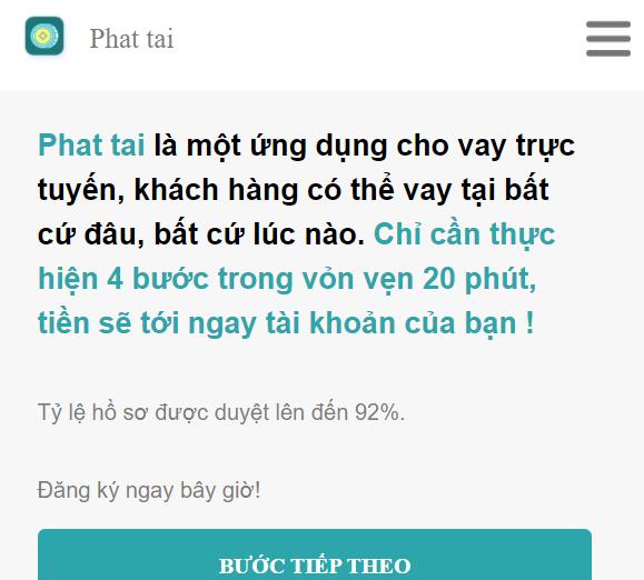 Dịch vụ vay tiền h5 phat tai