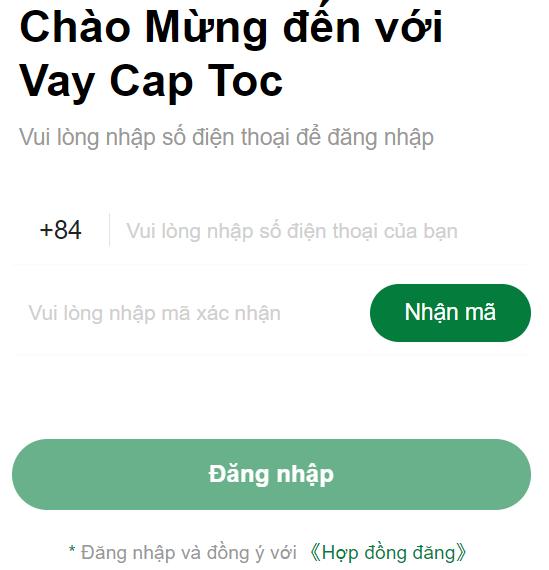 H5 Vay Cap Toc vay tiền sốc