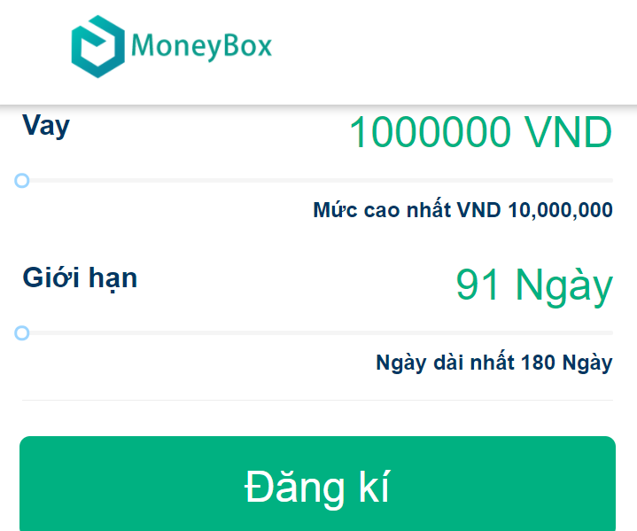 Moneybox vay tiền trực tuyến