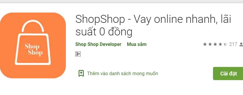 ShopShop vay tiền