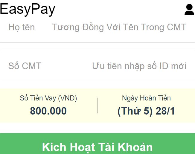 EasyPay.vn cho vay tiền nhanh