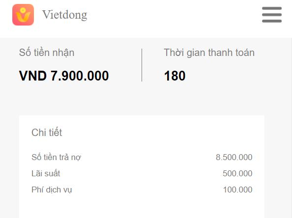 Vietdong hỗ trợ cho vay thoải mái 24/24