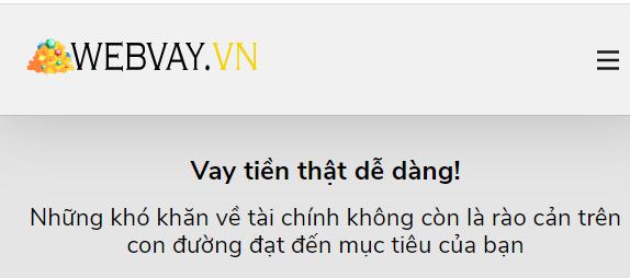 Webvay vn vay tiền online nhanh gọn cho bất cứ ai đang muốn.