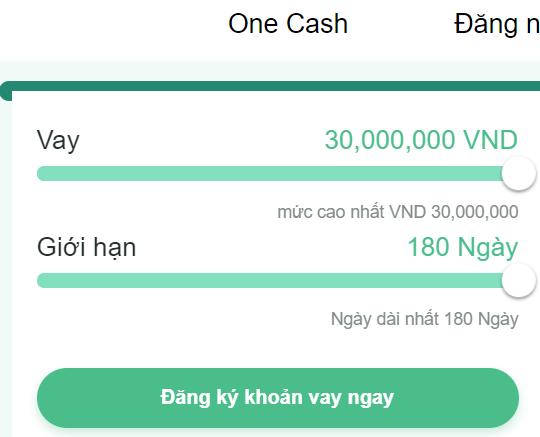 OneCash vay tiền